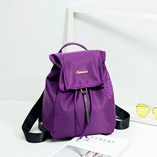 Donne della spalla coreana / modo selvaggio Nylon Oxford Drawstring Mini zaino / borsa / sacchetto ( Colore : Nero ) Viola