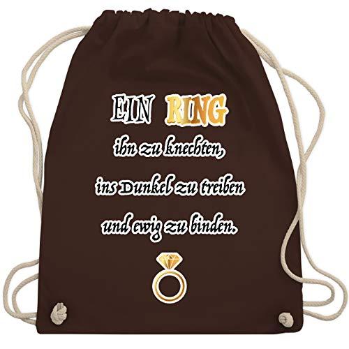 JGA Junggesellinnenabschied - Ein Ring. JGA - Unisize - Braun - WM110 - Turnbeutel & Gym ()