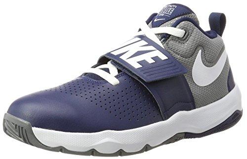 Nike Jungen Team Hustle D 8 (GS) Basketballschuhe Blau (Midnight Navy/White-Cool Grey) 40 EU
