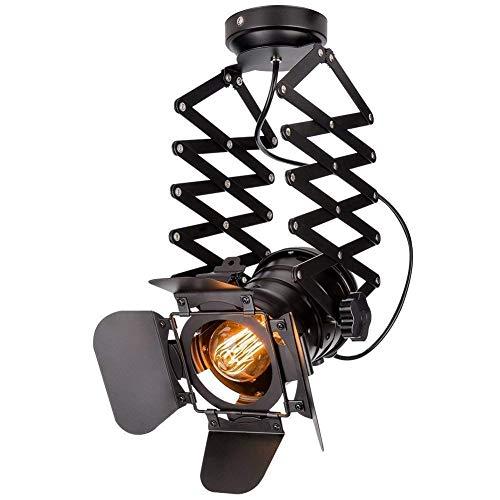 Lámpara foco hierro forjado Lámpara colgante telescopio