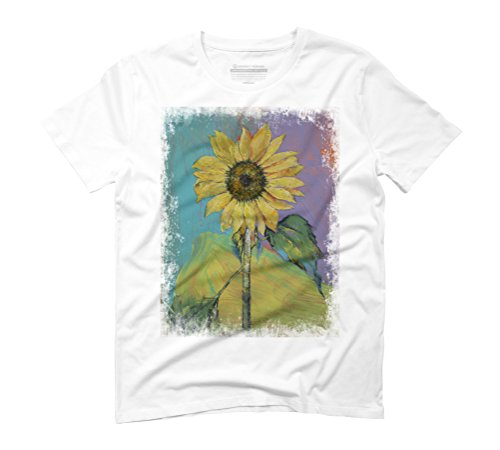 SUNFLOWER Men's 3X-Large White Graphic T-Shirt - Design By Humans (Tee Fleur Mens)