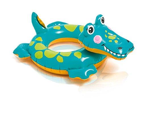 Preisvergleich Produktbild Badetier Aufblasbarer Schwimmring für absoluten Badespaß / Tier Kopf / Tierkopf / ca. 56 cm Badespaß für Kinder / der ideale Badespass für Schwimmbad , See , Strand oder Bade Urlaub / Vogel / Frosch oder Zebra (Krokodil)