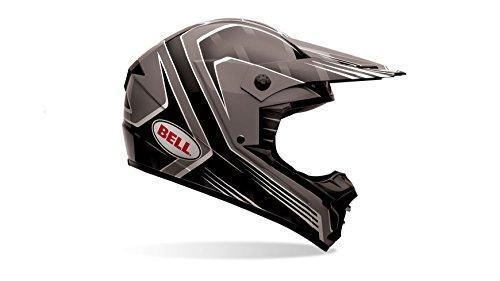 Bell Casco de motocicleta de 1,Adult Casco, color Race Negro,...