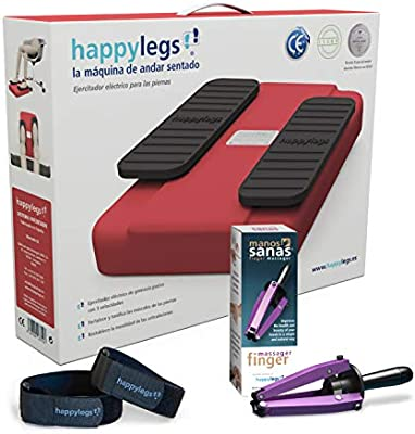 Oferta Pack: Happylegs Rojo + Manos Sanas + Correas. La máquina de andar sentado.