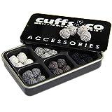 6Paar Seidenknoten-Manschettenknöpfe Geschenk-Set | von Cuffs & Co, Textil, Shades of Grey