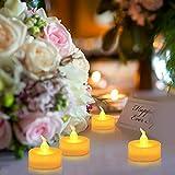 Advocator 24pcs Gelb Batteriebetriebene LED Teelichter Kerzen mit Timer -6 Stunden an und 18 Stunden aus in 24 Stunden Zyklus für Outdoor, Indoor, Thanksgiving-Tage, Weihnachten (24, gelb)