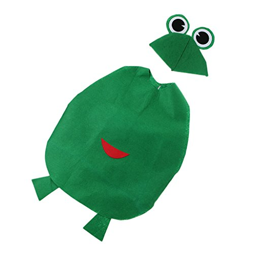 IPOTCH Kleinkind Obst Kostüm Tierkostüm Kinder-Kostüme für Fasching Karneval Halloween Party Faschingskostüm Karnevalskostüm - Frosch