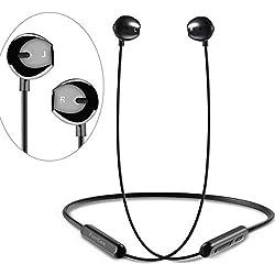 FunCee Auriculares Bluetooth 5.0 - impermeables IPX5 compatibles HiFi 7-9 Horas de juego, graves intensos, Auriculares inalámbricos para deporte, micrófono incorporado para iPhone Android Samsung iPad