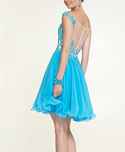 Bridal_Mall - Robe de mariage - Trapèze - Femme Bleu - Bleu