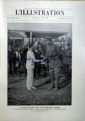 ILLUSTRATION (L') [No 4042] du 21/08/1920 - UN SUCCES FRANCAIS AUX JEUX OLYMPIQUES D'ANVERS / LE ROI ALBERT FELICITE L'ATHLETE FRANCAIS GUILLEMOT