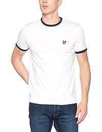 Lyle & Scott Ringer, Camiseta para Hombre, Blanco
