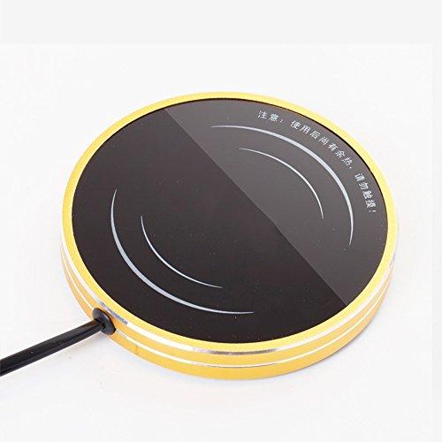 XRXY Kreativität Electro-thermische Cafe / praktische Heizung Coaster / Milk Drink Isoliermatte / thermostatische Heizung / Mini warme Tasse / einfache Isolierung Base ( Farbe : Gold )