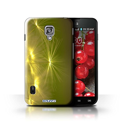 Kobalt® Imprimé Etui / Coque pour LG Optimus L7 II Dual / Turquoise conception / Série Allumez la vie Jaune