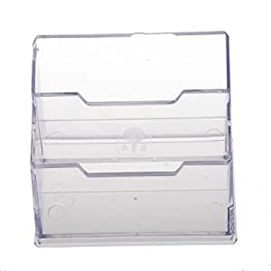 Office business card holder desktop display stand 2 compartment office business card holder desktop display stand 2 compartment amazon kitchen home colourmoves Image collections