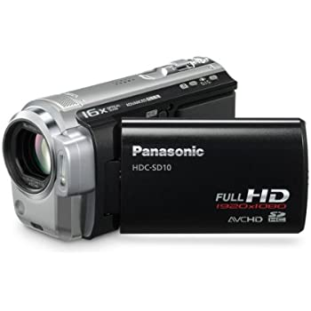 Panasonic HDC-SD10 High Definition Flash Memory Camcorder With 16x Optical Zoom - Black