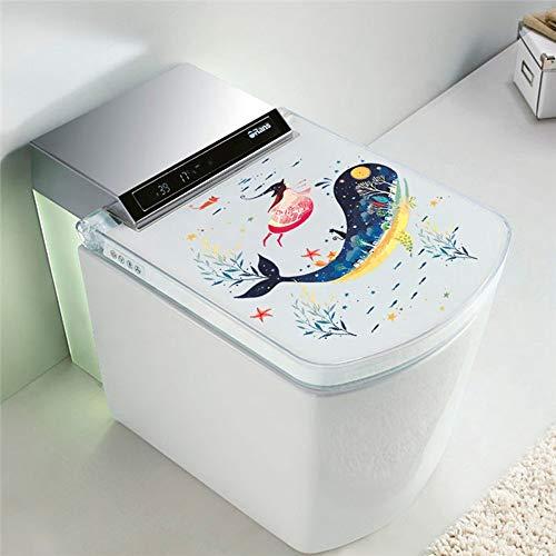 YJSDWBO Wandaufkleber Unterwasser Delphin Hai Fisch Katze Wandaufkleber Applique Art Badezimmer Waschmaschine Toilette Badezimmer Halloween Dekoration