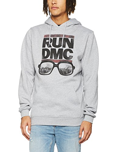 Mister Tee RUN DMC City Glasses Hoodie, Farbe heather grey, Size L Preisvergleich