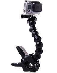 XCSOURCE® 7 gemeinsame einstellbare Schwanenhals Arm Griff Einbeinstativ + Jaws Flex Clamp Halterung für Gopro Hero 1 2 3 3 + 4 SJ4000 SJ5000 Camer OS176