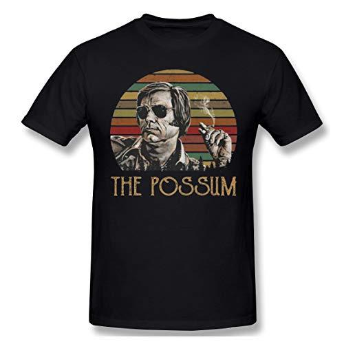 DeyAope George Jones The Possum Herren Klassisch T-Shirt Black 4XL