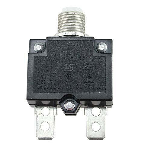 Sen-Sen 5A / 10A / 15A / 20A / 30A Drucktaster Rückstellbarer Thermoschalter für Schalttafeleinbau schwarz 15A - Installieren Circuit Breaker 30a