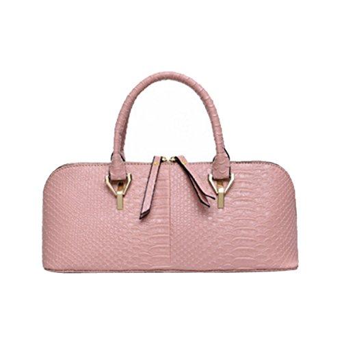 ADEFG Damen-Mode Schultertasche Geprägt Krokodil Muster Handtasche,Pink-OneSize