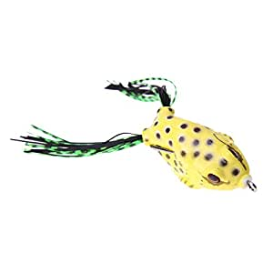 NEW 5Pcs Fishing Lures Large Frog Topwater Crankbait Hooks Bass Bait Tackle