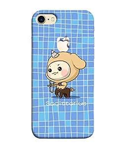 Nextgen Designer Mobile Skin for Apple iPhone 7 Plus (Logo View Window Case) (Animated Funny Imaginary Charecter Girly)