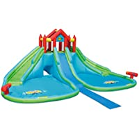 Duplay Mega 24ft x 25ft Inflatable Double Waterslide with Slip & Slide and Twin Water Cannons - 9283