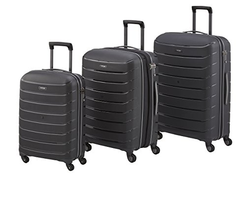 TITAN Set de bagage 'Limit' 3 pcs noir Koffer-Set, 77 cm, 106 liters, Schwarz (Noir)