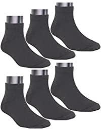 Neska Moda Men's Cotton Black & White 6 Pair Ankle Length Socks