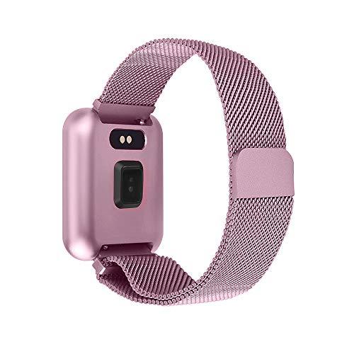 Imagen de soloking pulsera actividad impermeable ip68 con 8 modes de ejercicio,podometro,pulsómetros,monitor de dormir,pulsera reloj inteligente para hombre,mujer,niño rosa  alternativa