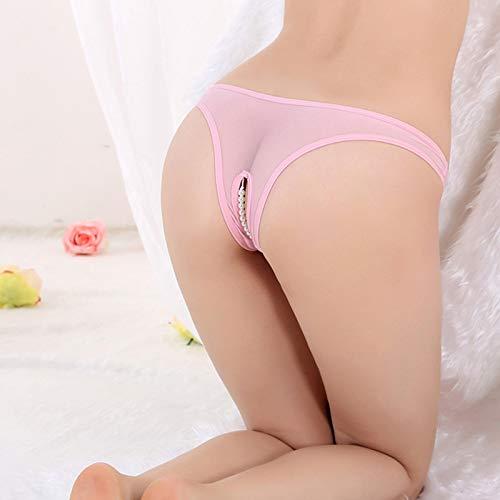 KEDCD Handschellen Sexspielzeug Damen sexy Perle Höschen erotische Dessous Spaßmassage, pink