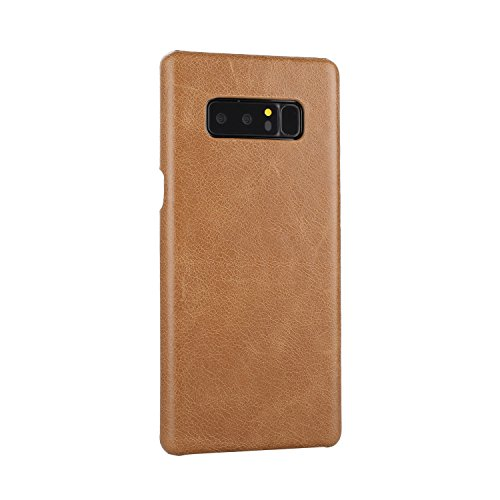 EKINHUI Case Cover Frosted Style Genium Leder Rüstung Shell Back Cover Case für Samsung Galaxy Note 8 ( Color : Red ) Yellow