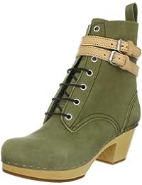 Swedish Hasbeens Combat boot 855 - Botas de cuero nobuck para mujer
