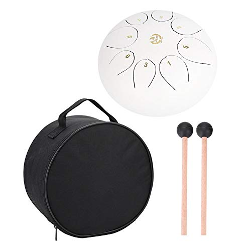 tongue drum, mano pan drum yoga meditazione stainless steel drum Percussion strumento musicale di, White