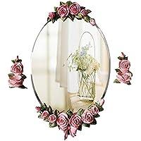 JTWJ Espejo Impermeable Espejo de vanidad Espejo Europeo Colgante de Pared jardín baño Espejo Espejo de
