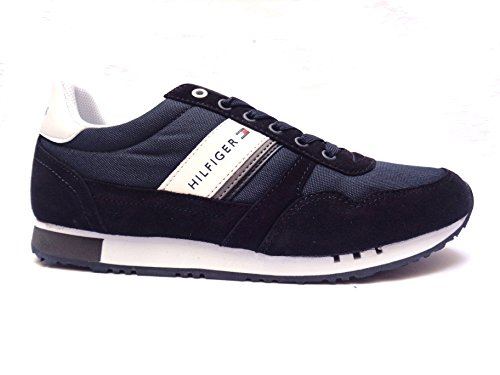 Tommy Hilfiger sneakers da uomo in camoscio/tessuto Blu, n. 43