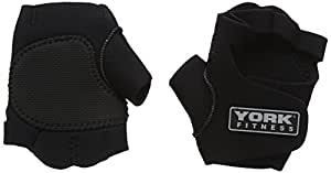 York Fitness Neoprene Training Gloves - Black, Small