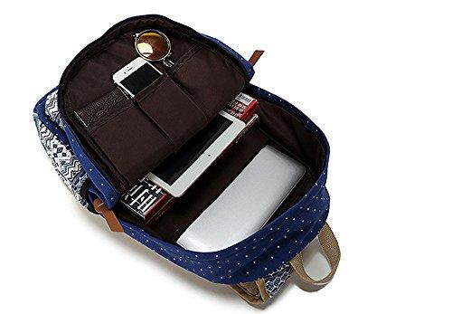 Outdoor Canvas Travel Fashion personalisierte Freizeit Rucksack 14in Computer Tasche 3 PCs Set Hellblau