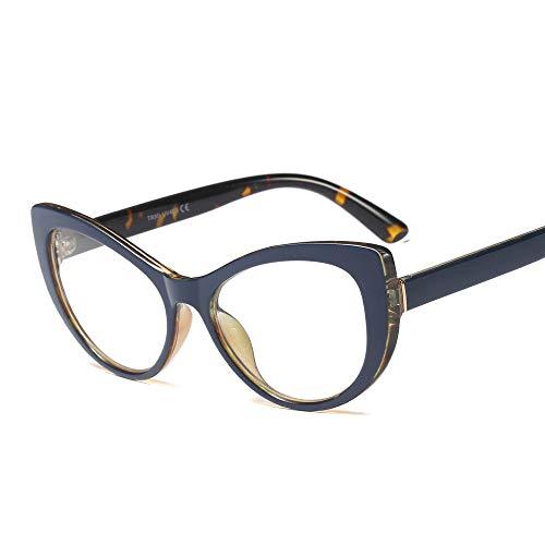 TYJYY Sonnenbrillen Mode Vintage Brillengestell Brillengestelle Frauen Flache Spiegel Cat Eye...