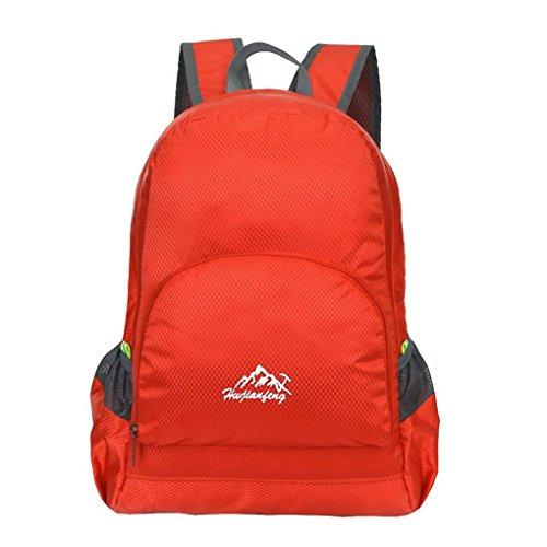 Ultra leggero da viaggio impermeabile escursionismo arrampicata campeggio Zaini Casual scuola borsa a tracolla per adolescenti e bambine Rosso