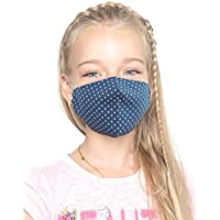 Set di 3 Maschere a 2 strati per Bambini a 7-13 Anni, 100% Cotone, Lavabili e Riutilizzabili, Handmade
