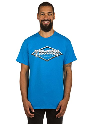 Herren T-Shirt Thrasher Diamond Emblem T-Shirt Sapphire Blue