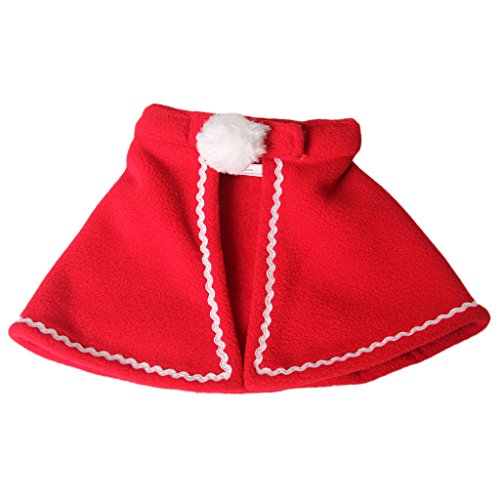 Baoblaze 1 Stk. Elegante Umhang geformt Hundekostüm, Formale Kleidungsstück für Zeremonien und Hochzeit - Farbe Wählen - Rot, S