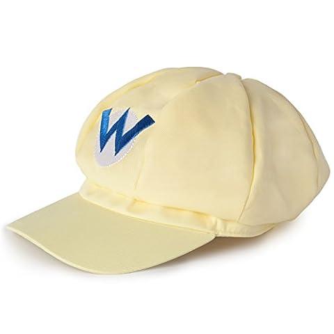 Super Mario Wario Mütze in gelb für Erwachsene oder Kinder