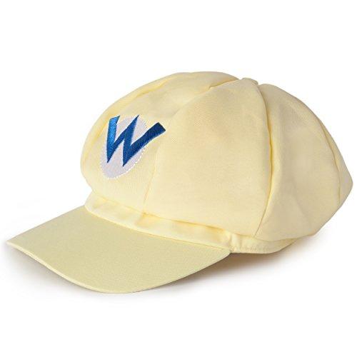 Imagen de katara  gorra de wario para disfraz de super mario bros para niños y adulto, color amarillo