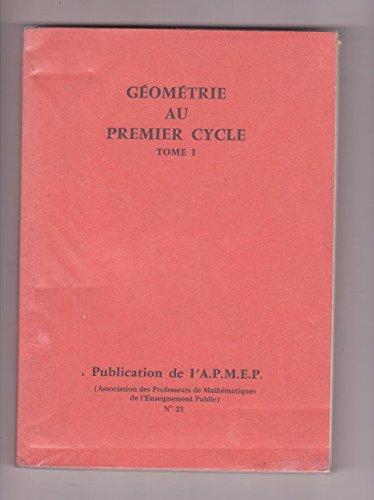 Géométrie au premier cycle