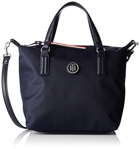 Tommy Hilfiger Poppy Small Tote, Cabas femme, Bleu (Tommy Navy), 15.5x25.5x33 cm (B x H x T)