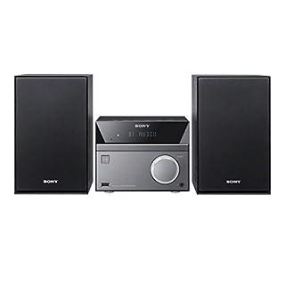 Sony CMT-SBT40D 50W Bluetooth Hi-Fi System with CD and FM Radio - Black/Grey