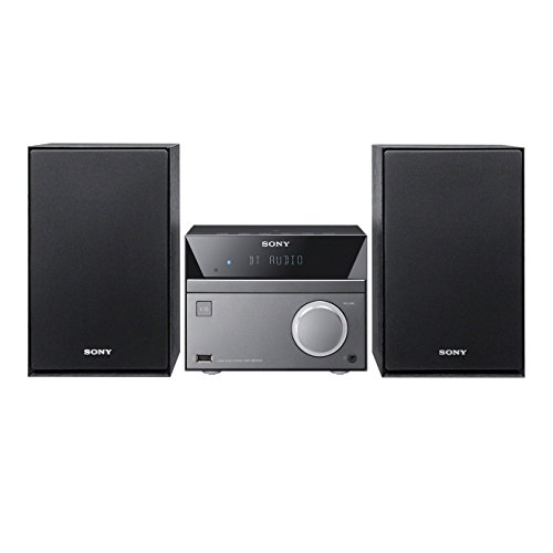 Sony CMT-SBT40D Micro-HiFi System (50 Watt, CD/DVD-Player, FM/AM-Tuner, Bluetooth, NFC, USB) schwarz